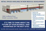 Retail Spaces Available in New Medical Development
